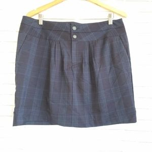 GAP Womens Sz16 Blue Black Plaid Mini Skirt